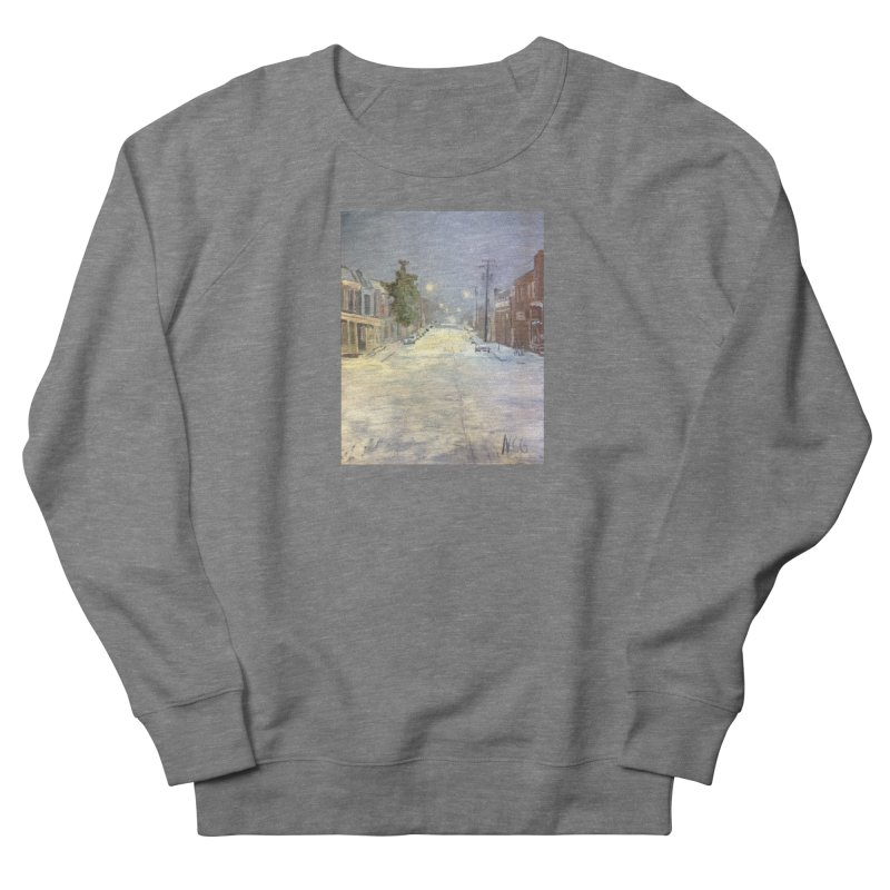 Mulberry and Main, 1AM in the Snow Men's French Terry Sweatshirt by NatalieGatesArt's Shop