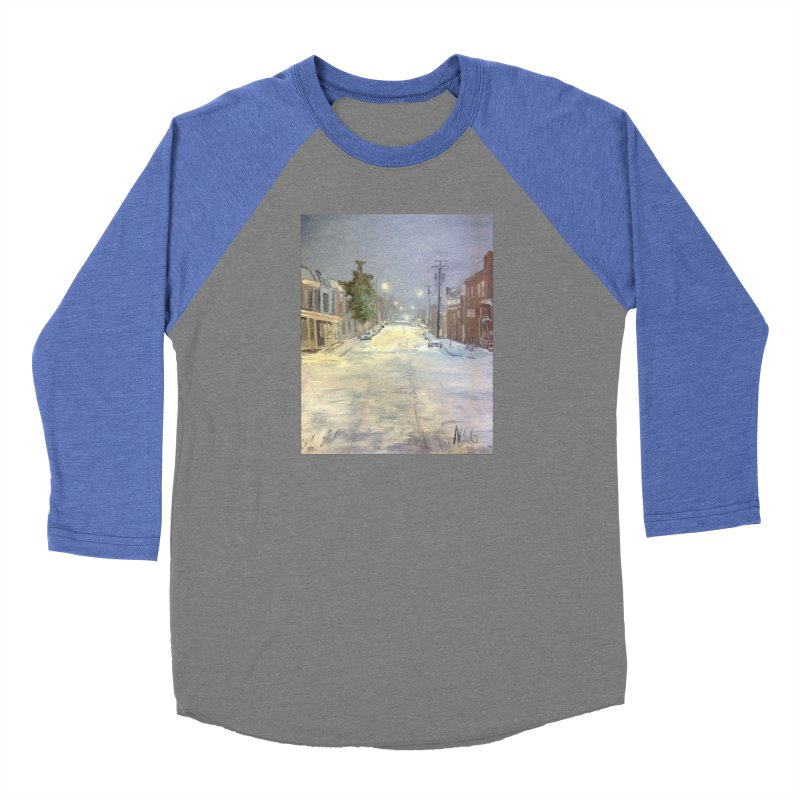 Mulberry and Main, 1AM in the Snow Men's Baseball Triblend Longsleeve T-Shirt by NatalieGatesArt's Shop