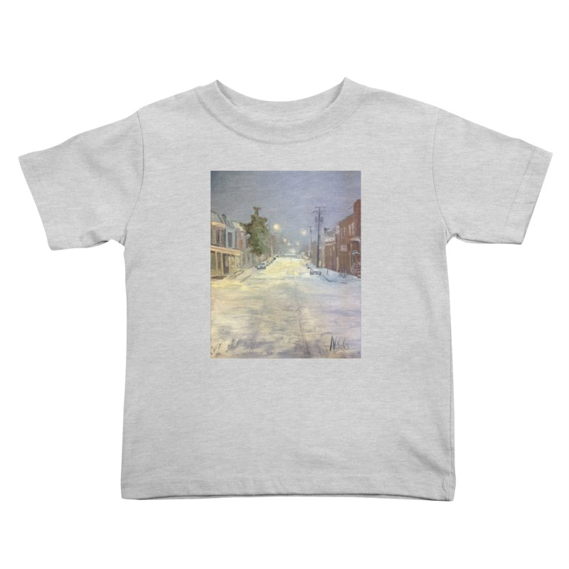 Mulberry and Main, 1AM in the Snow Kids Toddler T-Shirt by NatalieGatesArt's Shop