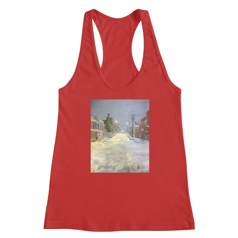 Mulberry and Main, 1AM in the Snow Women's Tank by NatalieGatesArt's Shop