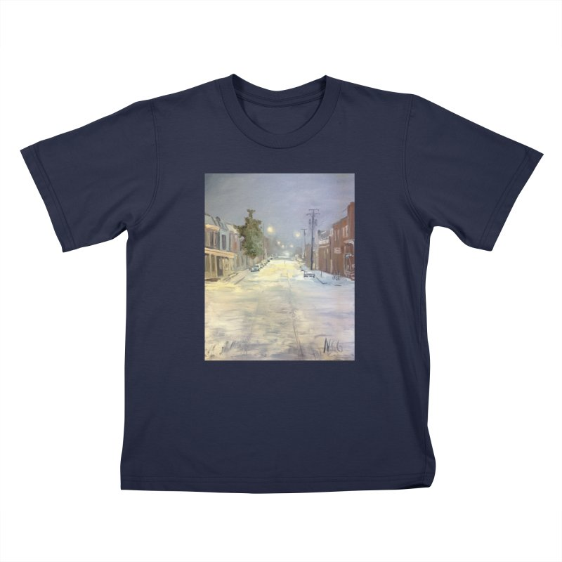 Mulberry and Main, 1AM in the Snow Kids T-Shirt by NatalieGatesArt's Shop
