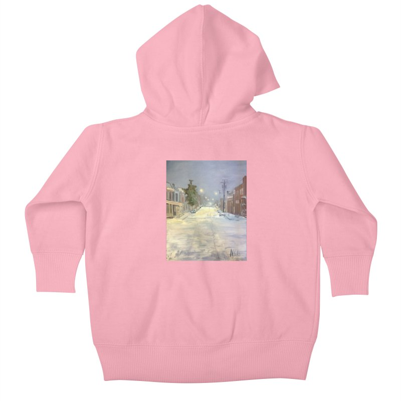 Mulberry and Main, 1AM in the Snow Kids Baby Zip-Up Hoody by NatalieGatesArt's Shop