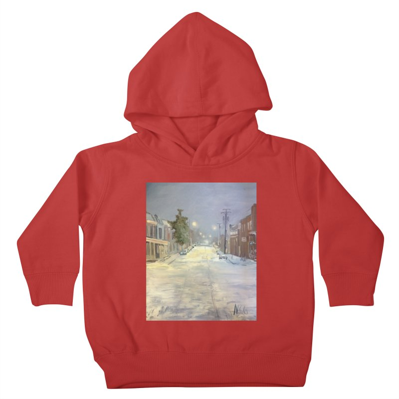 Mulberry and Main, 1AM in the Snow Kids Toddler Pullover Hoody by NatalieGatesArt's Shop
