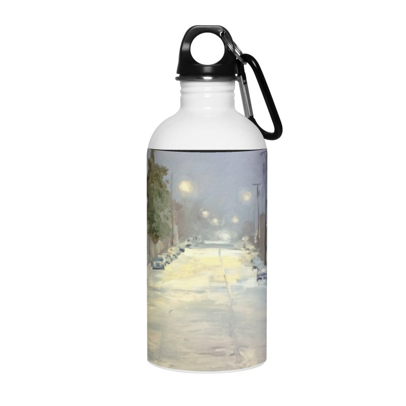 Mulberry and Main, 1AM in the Snow Accessories Water Bottle by NatalieGatesArt's Shop