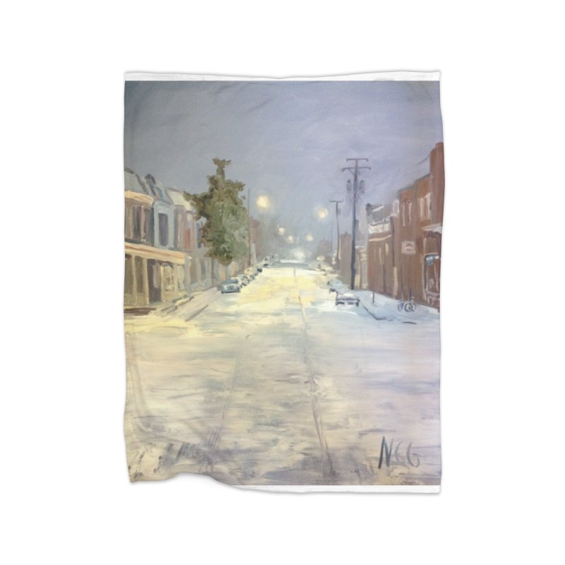 Mulberry and Main, 1AM in the Snow Home Blanket by NatalieGatesArt's Shop