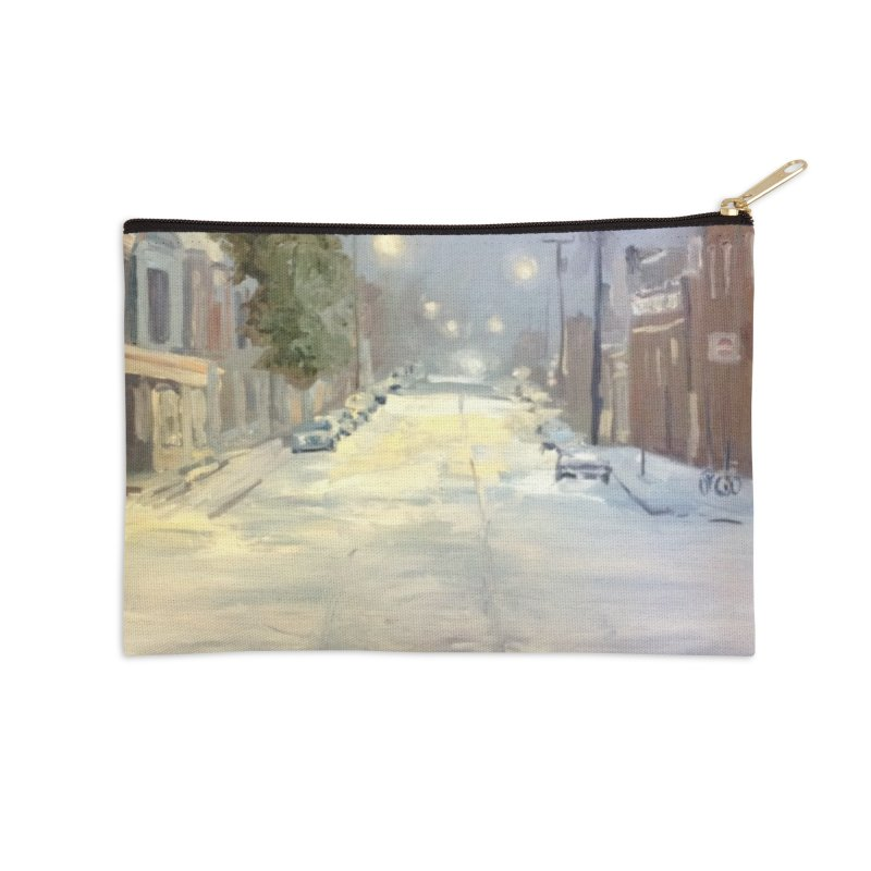 Mulberry and Main, 1AM in the Snow Accessories Zip Pouch by NatalieGatesArt's Shop