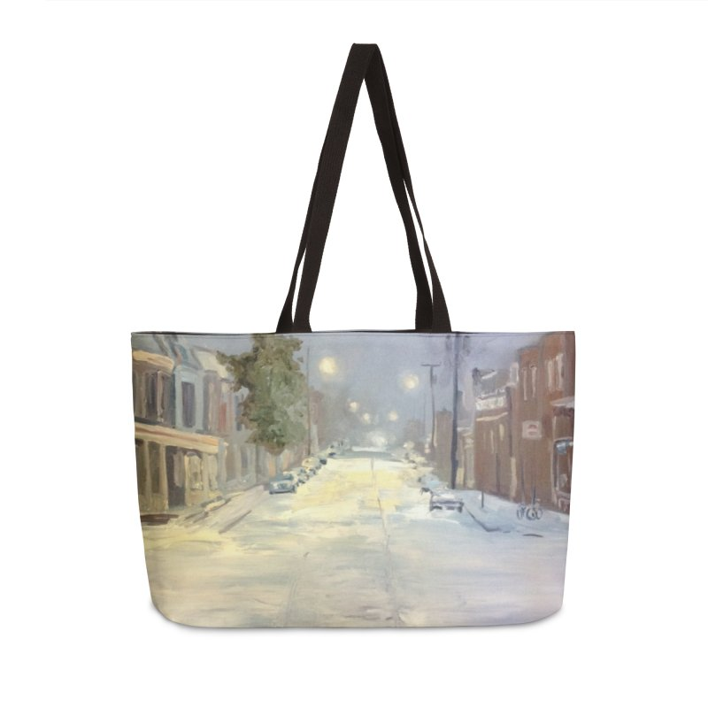 Mulberry and Main, 1AM in the Snow Accessories Weekender Bag Bag by NatalieGatesArt's Shop
