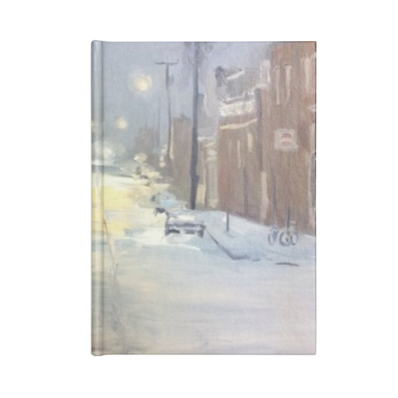 Mulberry and Main, 1AM in the Snow Accessories Notebook by NatalieGatesArt's Shop