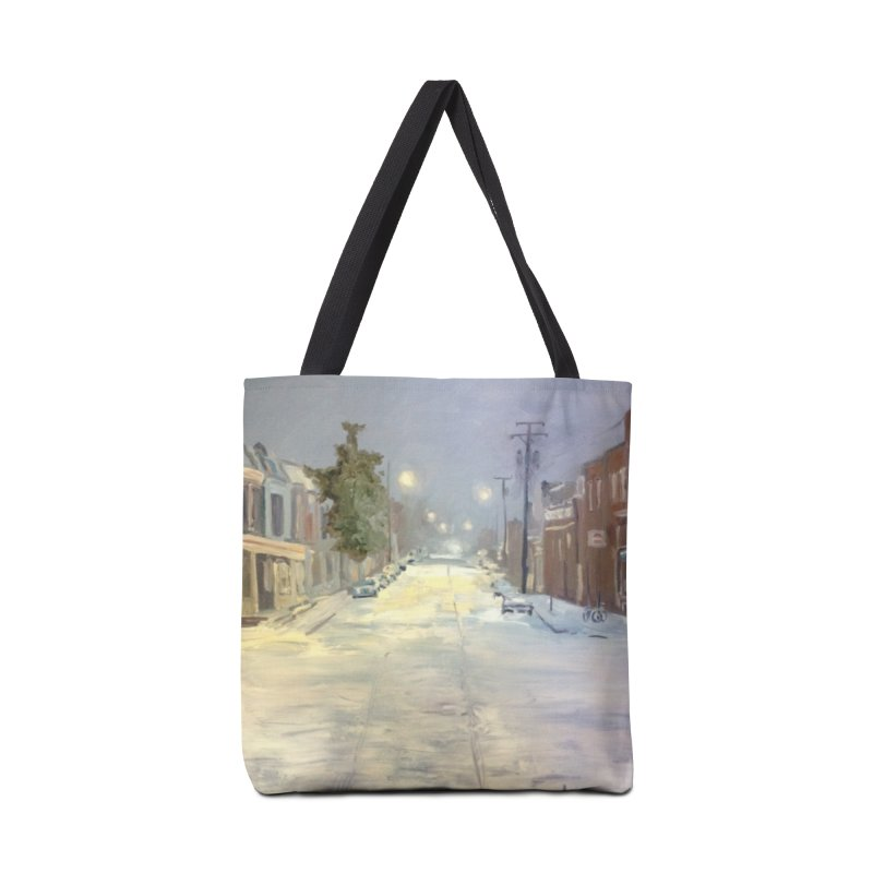 Mulberry and Main, 1AM in the Snow Accessories Tote Bag Bag by NatalieGatesArt's Shop
