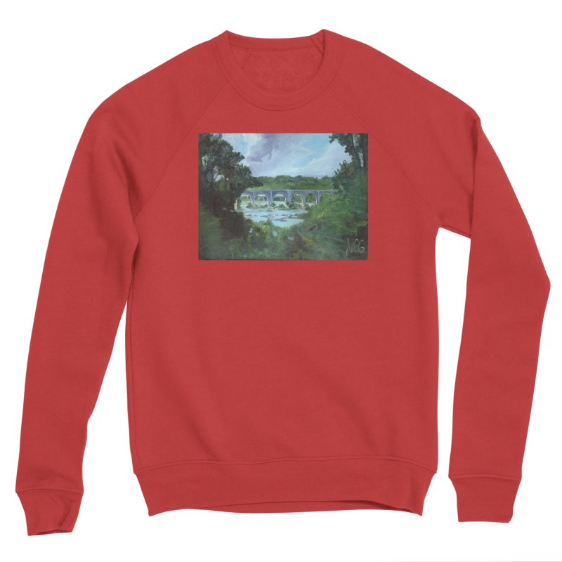 Bridge Over the James, Richmond, VA Women's Sponge Fleece Sweatshirt by NatalieGatesArt's Shop