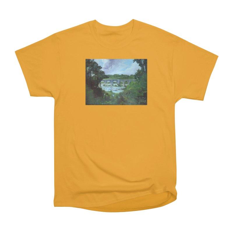 Bridge Over the James, Richmond, VA Women's Heavyweight Unisex T-Shirt by NatalieGatesArt's Shop