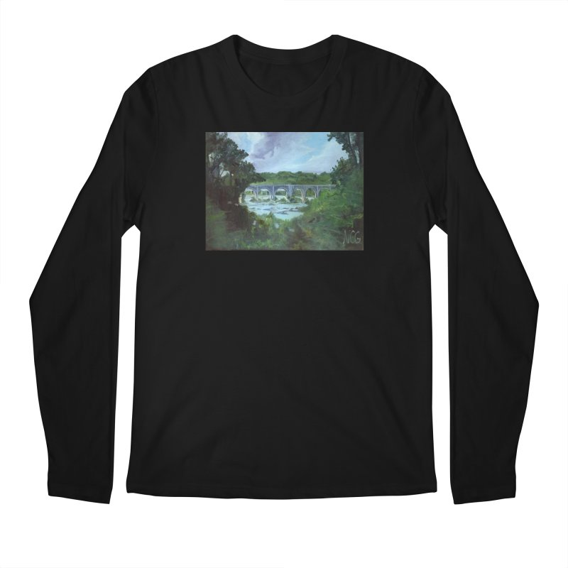 Bridge Over the James, Richmond, VA Men's Regular Longsleeve T-Shirt by NatalieGatesArt's Shop