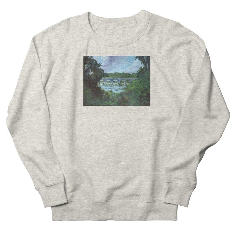 Bridge Over the James, Richmond, VA Men's French Terry Sweatshirt by NatalieGatesArt's Shop
