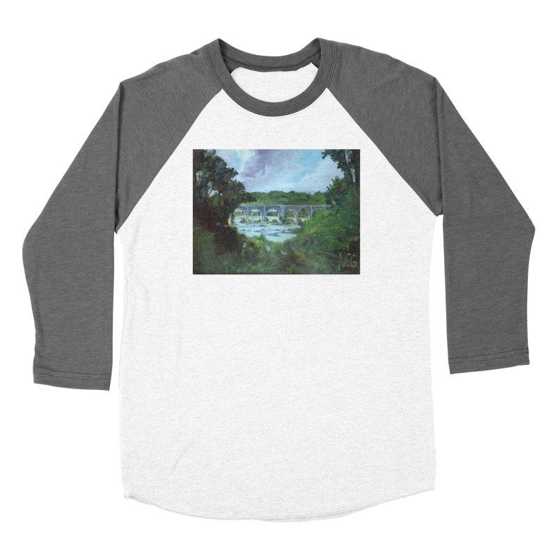 Bridge Over the James, Richmond, VA Men's Baseball Triblend Longsleeve T-Shirt by NatalieGatesArt's Shop