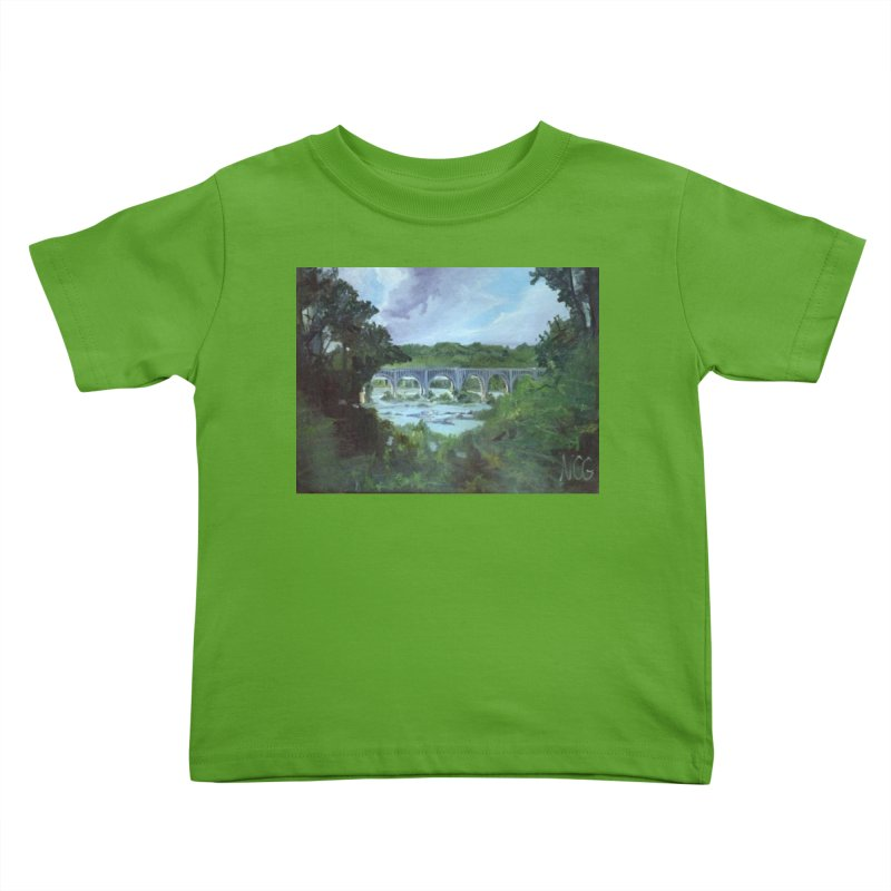 Bridge Over the James, Richmond, VA Kids Toddler T-Shirt by NatalieGatesArt's Shop