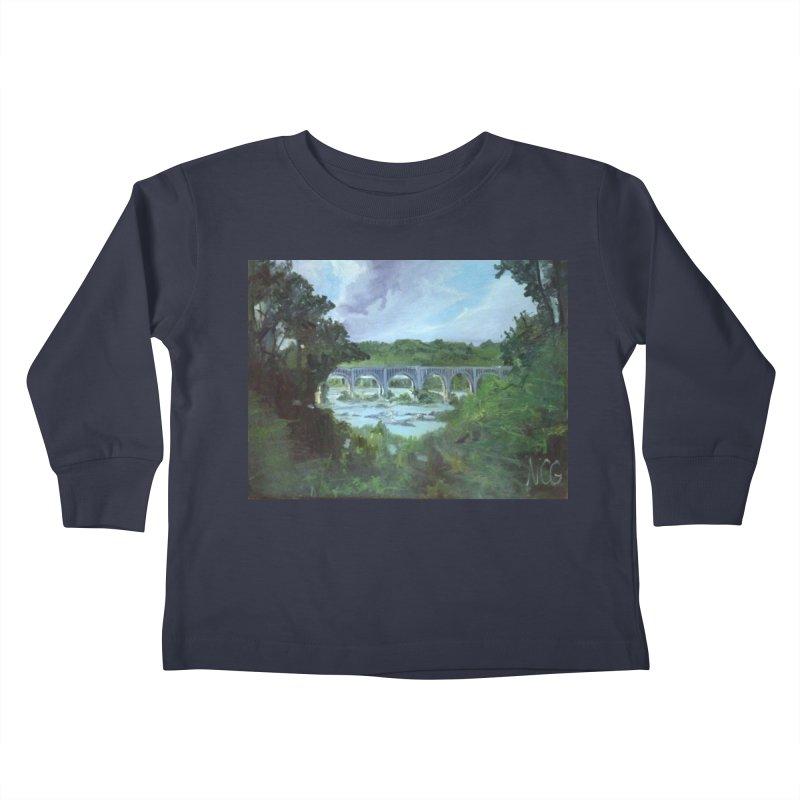 Bridge Over the James, Richmond, VA Kids Toddler Longsleeve T-Shirt by NatalieGatesArt's Shop