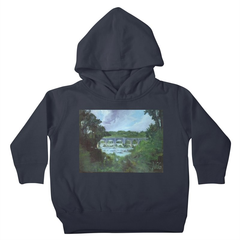 Bridge Over the James, Richmond, VA Kids Toddler Pullover Hoody by NatalieGatesArt's Shop