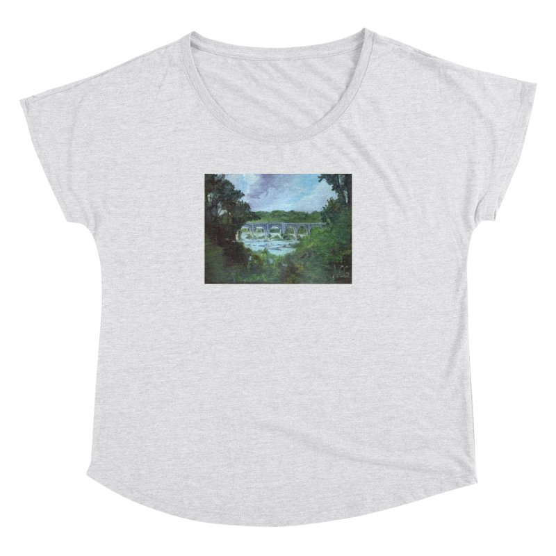 Bridge Over the James, Richmond, VA Women's Dolman Scoop Neck by NatalieGatesArt's Shop