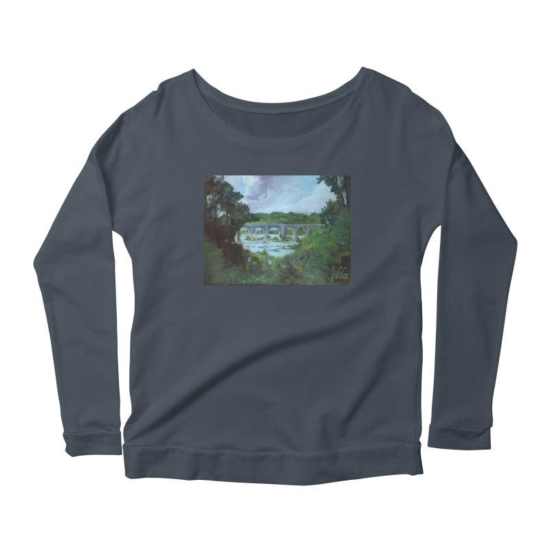 Bridge Over the James, Richmond, VA Women's Longsleeve T-Shirt by NatalieGatesArt's Shop