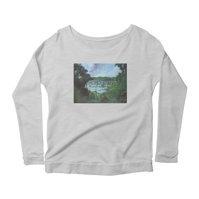 Bridge Over the James, Richmond, VA Women's Scoop Neck Longsleeve T-Shirt by NatalieGatesArt's Shop