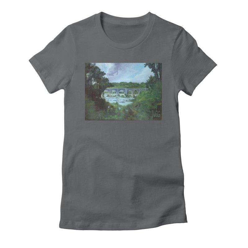 Bridge Over the James, Richmond, VA Women's Fitted T-Shirt by NatalieGatesArt's Shop