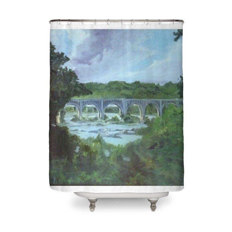 Bridge Over the James, Richmond, VA Home Shower Curtain by NatalieGatesArt's Shop