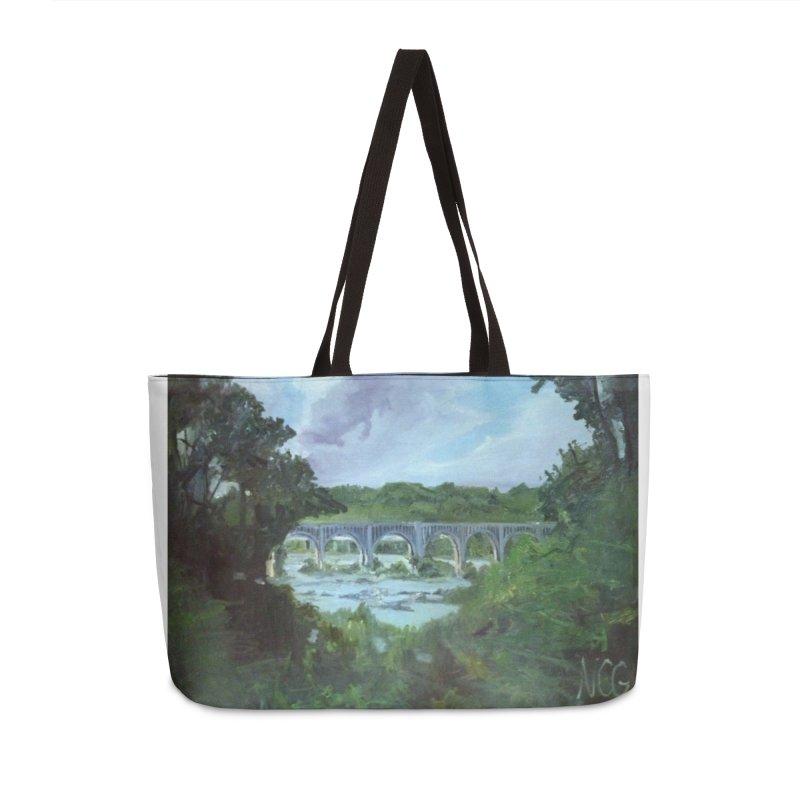 Bridge Over the James, Richmond, VA Accessories Weekender Bag Bag by NatalieGatesArt's Shop