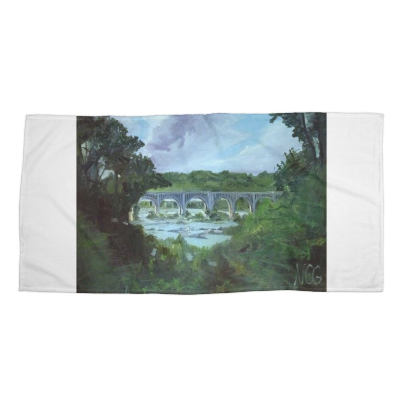 Bridge Over the James, Richmond, VA Accessories Beach Towel by NatalieGatesArt's Shop