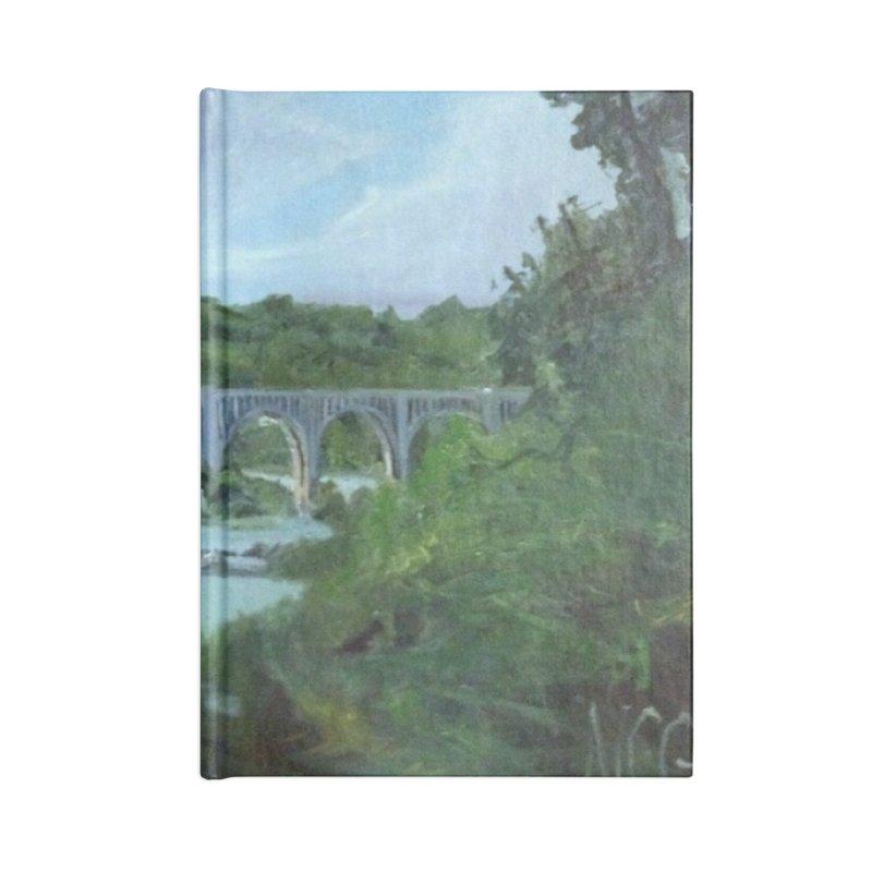 Bridge Over the James, Richmond, VA Accessories Blank Journal Notebook by NatalieGatesArt's Shop