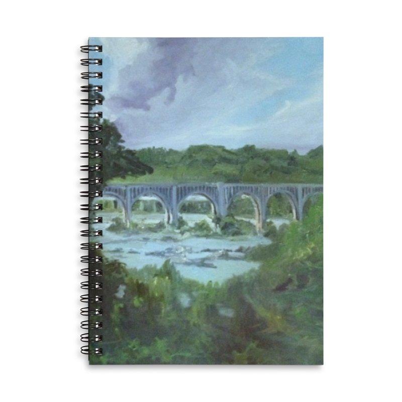 Bridge Over the James, Richmond, VA Accessories Lined Spiral Notebook by NatalieGatesArt's Shop