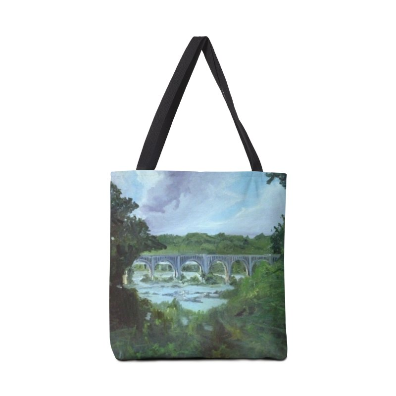 Bridge Over the James, Richmond, VA Accessories Tote Bag Bag by NatalieGatesArt's Shop