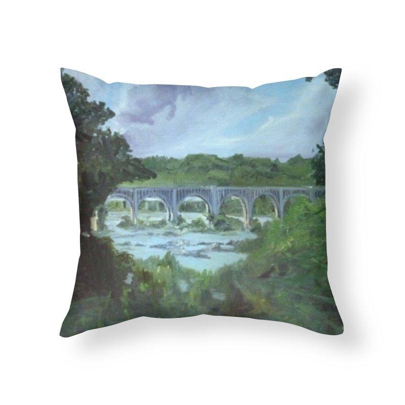 Bridge Over the James, Richmond, VA Home Throw Pillow by NatalieGatesArt's Shop