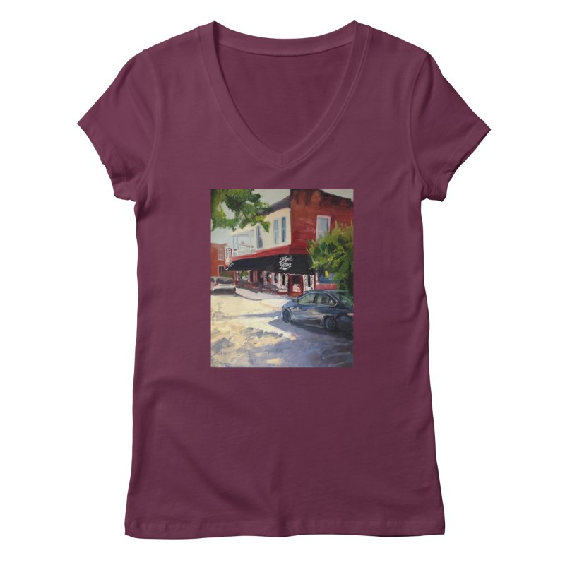 Joe's Inn Women's Regular V-Neck by NatalieGatesArt's Shop