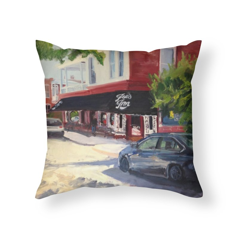 Joe's Inn Home Throw Pillow by NatalieGatesArt's Shop