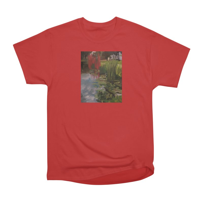 """""""Chihuly Sculpture and Water Lilies at the VMFA"""" Women's Heavyweight Unisex T-Shirt by NatalieGatesArt's Shop"""