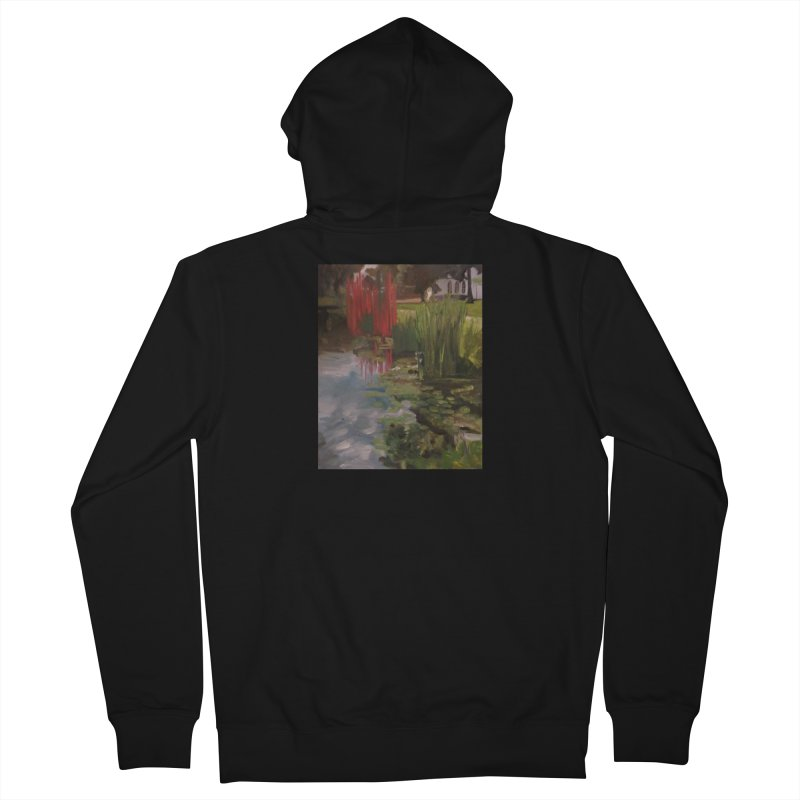 """""""Chihuly Sculpture and Water Lilies at the VMFA"""" Men's Zip-Up Hoody by NatalieGatesArt's Shop"""