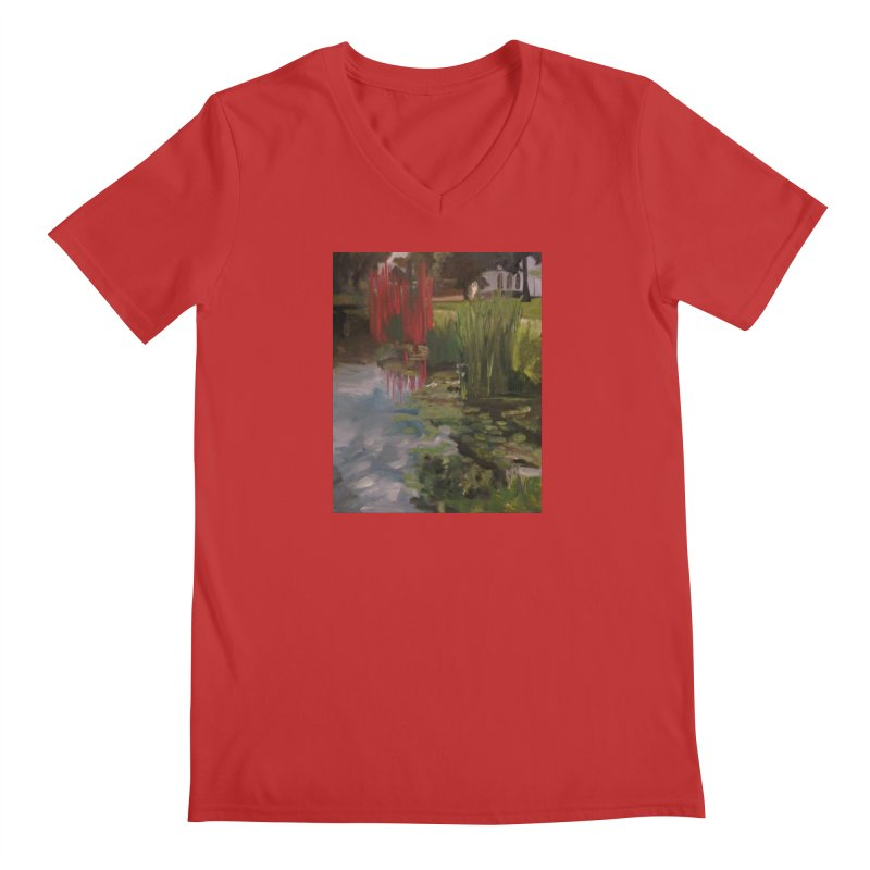 """""""Chihuly Sculpture and Water Lilies at the VMFA"""" Men's V-Neck by NatalieGatesArt's Shop"""