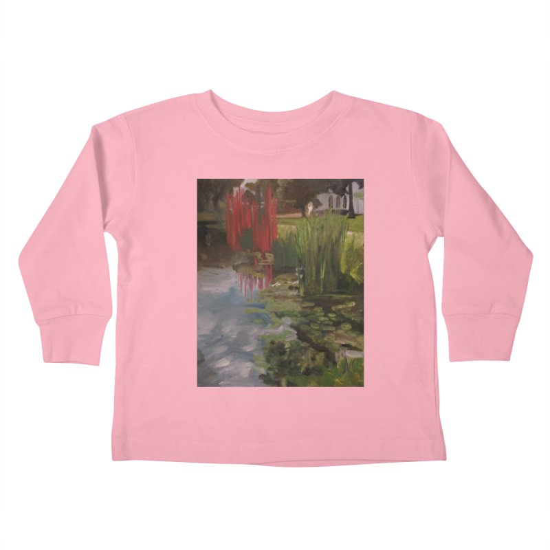 """""""Chihuly Sculpture and Water Lilies at the VMFA"""" Kids Toddler Longsleeve T-Shirt by NatalieGatesArt's Shop"""