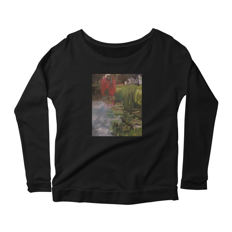 """""""Chihuly Sculpture and Water Lilies at the VMFA"""" Women's Scoop Neck Longsleeve T-Shirt by NatalieGatesArt's Shop"""