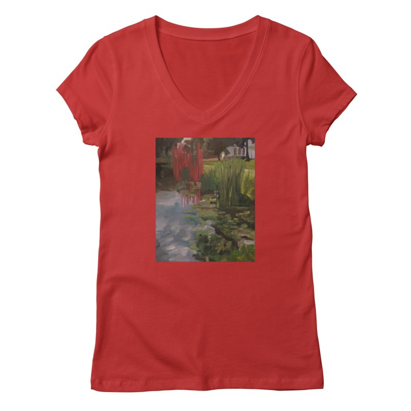 """Chihuly Sculpture and Water Lilies at the VMFA"" Women's Regular V-Neck by NatalieGatesArt's Shop"