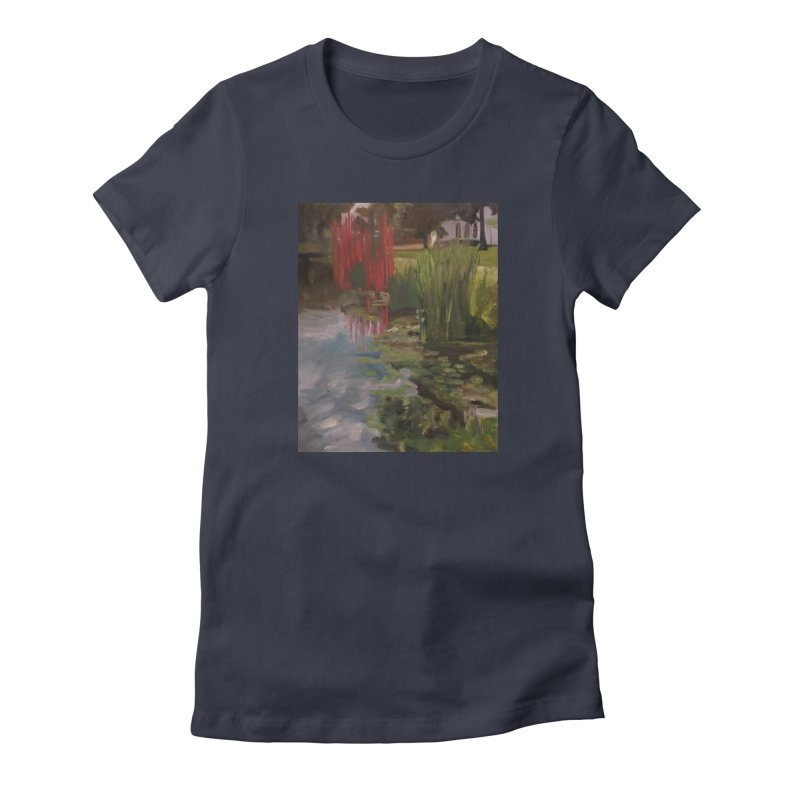 """""""Chihuly Sculpture and Water Lilies at the VMFA"""" Women's Fitted T-Shirt by NatalieGatesArt's Shop"""