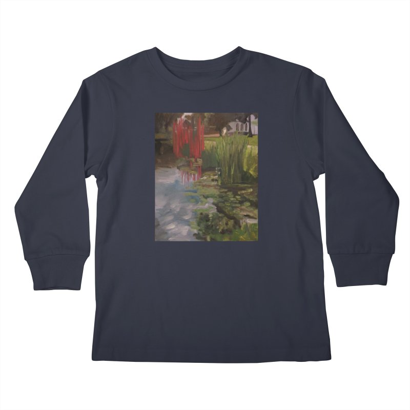 """""""Chihuly Sculpture and Water Lilies at the VMFA"""" Kids Longsleeve T-Shirt by NatalieGatesArt's Shop"""