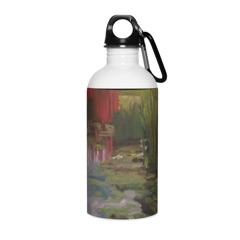 """Chihuly Sculpture and Water Lilies at the VMFA"" Accessories Water Bottle by NatalieGatesArt's Shop"
