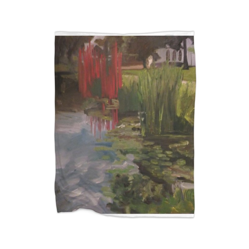 """""""Chihuly Sculpture and Water Lilies at the VMFA"""" Home Blanket by NatalieGatesArt's Shop"""