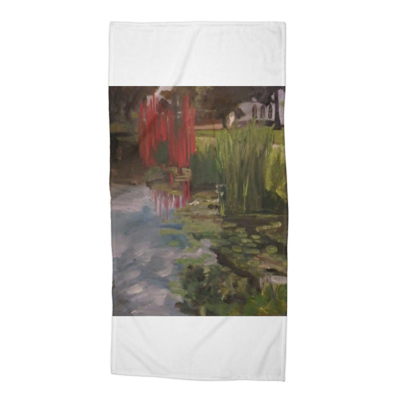"""""""Chihuly Sculpture and Water Lilies at the VMFA"""" Accessories Beach Towel by NatalieGatesArt's Shop"""
