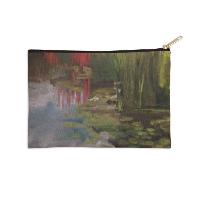 """""""Chihuly Sculpture and Water Lilies at the VMFA"""" Accessories Zip Pouch by NatalieGatesArt's Shop"""