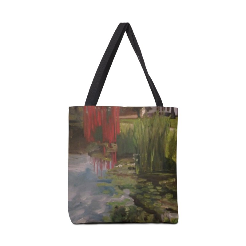 """Chihuly Sculpture and Water Lilies at the VMFA"" Accessories Tote Bag Bag by NatalieGatesArt's Shop"