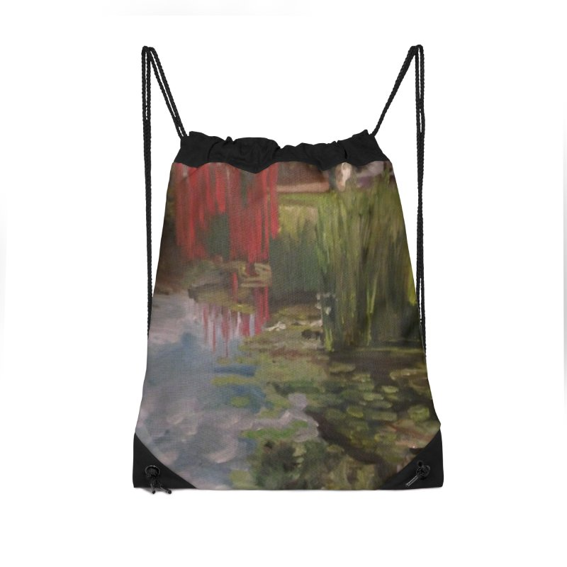 """""""Chihuly Sculpture and Water Lilies at the VMFA"""" Accessories Drawstring Bag Bag by NatalieGatesArt's Shop"""