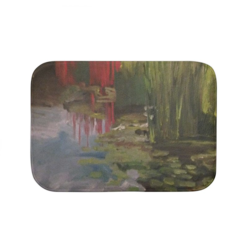 """""""Chihuly Sculpture and Water Lilies at the VMFA"""" Home Bath Mat by NatalieGatesArt's Shop"""