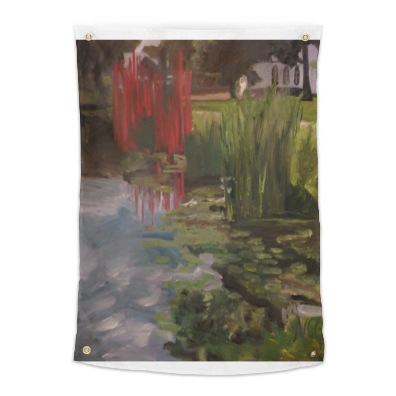"""""""Chihuly Sculpture and Water Lilies at the VMFA"""" Home Tapestry by NatalieGatesArt's Shop"""